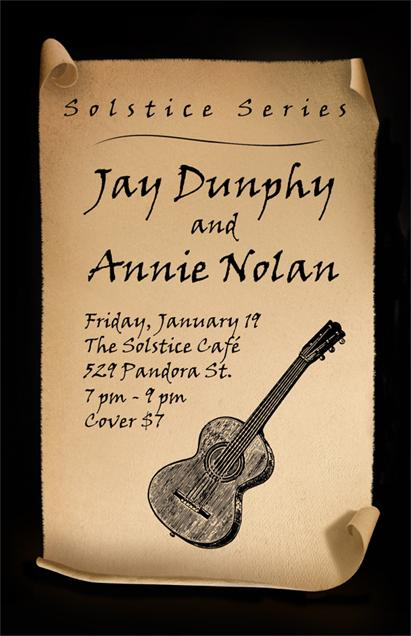 Poster for Jay and Annie at the Solstice Café